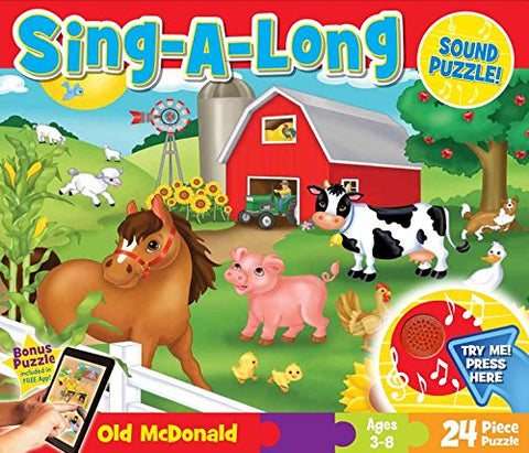 Masterpieces Sing-A-Long Old Mcdonald Sound Floor Puzzle, 24-Piece