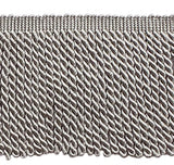 5 Yard Value Pack - 6 Inch Long Grey Bullion Fringe Trim, Style# Bfs6 Color: Silver Grey - 049 (15 Ft)
