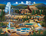Dowdle Folk Art Puzzles - Yellowstone Puzzle, 500 Pieces