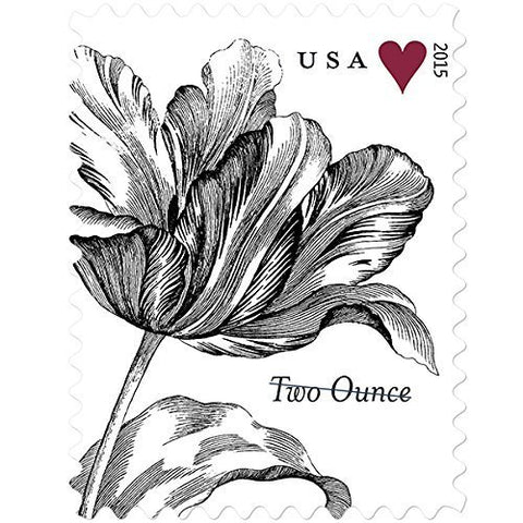 Vintage Tulip Sheet Of 20 Two-Ounce Rate U.S. Postage Stamps