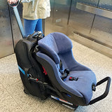 Best Car Seat Carrier Travel Accessory (Heavy Duty, Wider Strap, Baby Or Toddler Carseat Rolling Luggage Strap) Lightweight And Compact.