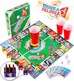 Drink-A-Palooza Board Game: Combines  Old-School  +  New School  Drinking Games &Amp; Adult Games With Beer Pong, Flip Cup, Kings Cup Card Game &Amp; The Best Adult Party Games