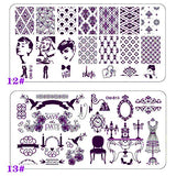 Tool Gadget 4 Pcs New Nail Polish Stamp Kit, 84 Nail Art Templates Images, Polish Stamp Plates Stamper Scraper Kit Stamping Beauty Manicure Tools