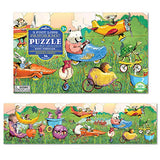 Eeboo Busy Vehicles Panoramic Floor Puzzle, 36 Pieces