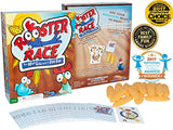Rooster Race Family Board Game - Fun Cards For All Ages, Kids And Adults 5 Years And Up