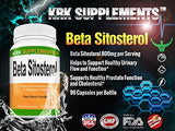 2 Bottles Beta Sitosterol 800Mg Per Serving 180 Total Capsules Prostate Support Krk Supplements