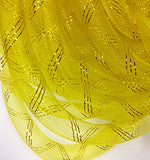 3/4'' Inch Tubular Crinoline Horse Hair Selling Per Roll 22 Yards Yellow And Gold