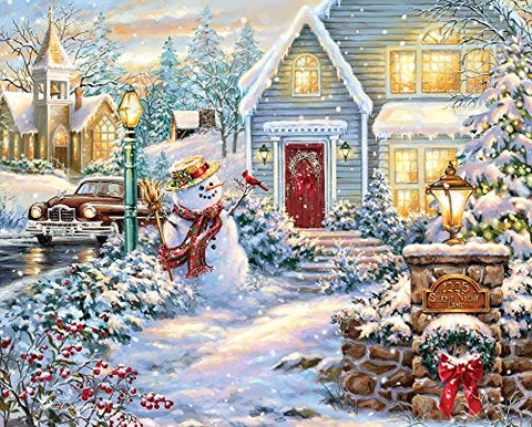 Springbok Puzzles Silent Night Lane Jigsaw Puzzle (1000 Piece)