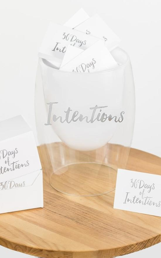 30 Days Of Intentions Jar-Gratitude Glass Jars-Sandy's Secret Wednesdays Unique Boutique