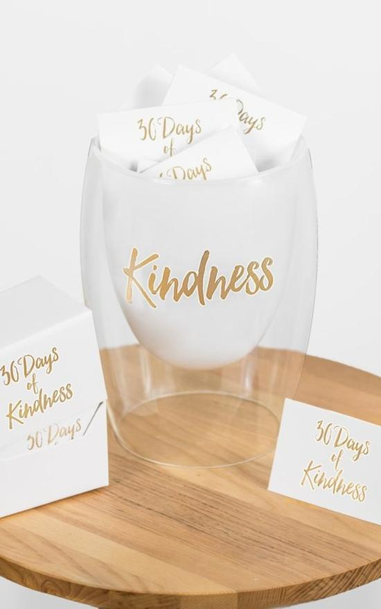 30 Days Of Kindness Jar-Gratitude Glass Jars-Sandy's Secret Wednesdays Unique Boutique