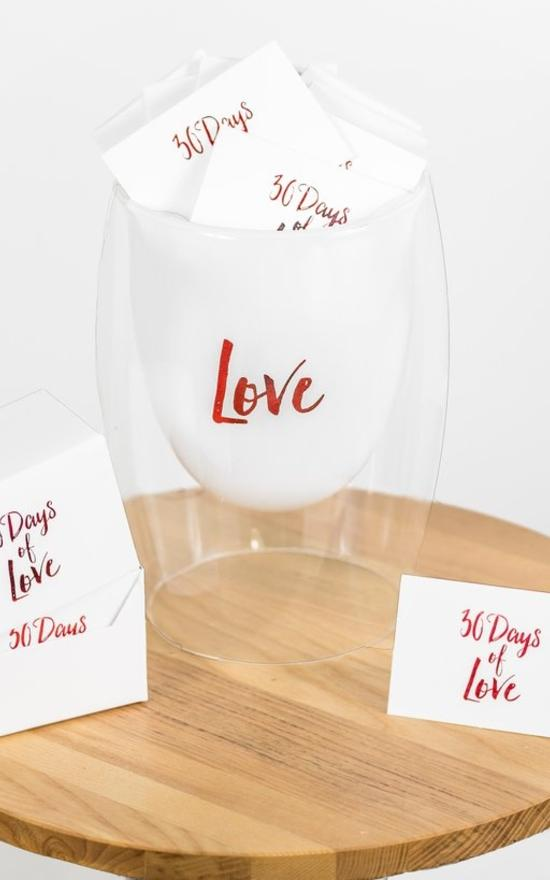 30 Days Of Love Jar-Gratitude Glass Jars-Sandy's Secret Wednesdays Unique Boutique