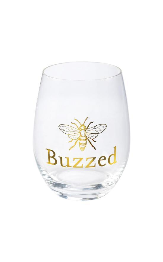Buzzed Wine Glass-Kathy's Primitives-Sandy's Secret Wednesdays Unique Boutique