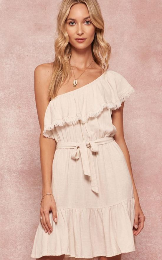 Celeste Belted Linen Dress-Promesa-Sandy's Secret Wednesdays Unique Boutique