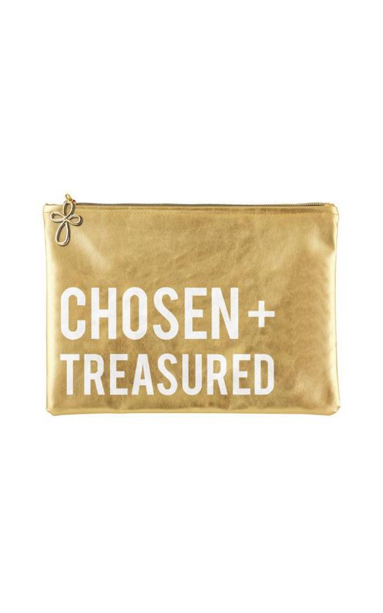 Chosen & Treasured Metallic Pouch-Faithworks-Sandy's Secret Wednesdays Unique Boutique