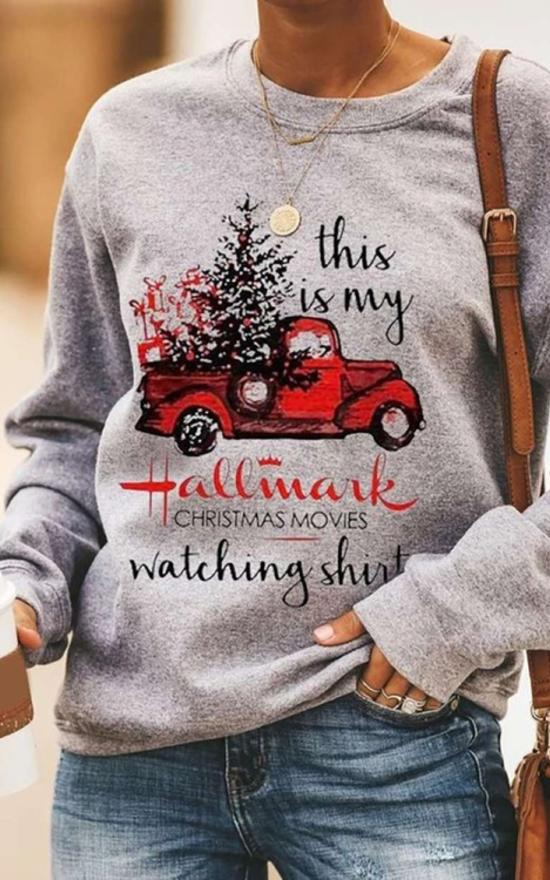 Christmas Watching Lightweight Pullover-La Femme-Sandy's Secret Wednesdays Unique Boutique