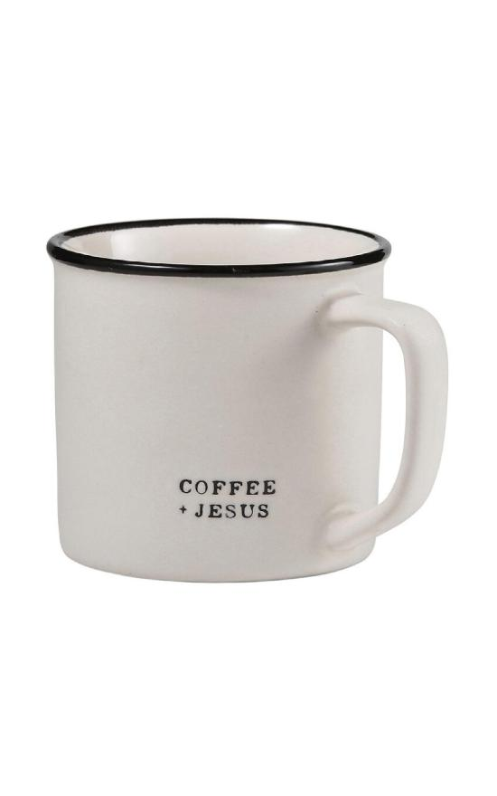 Coffee + Jesus Stoneware Mug-Santa Barbara Design Studio-Sandy's Secret Wednesdays Unique Boutique