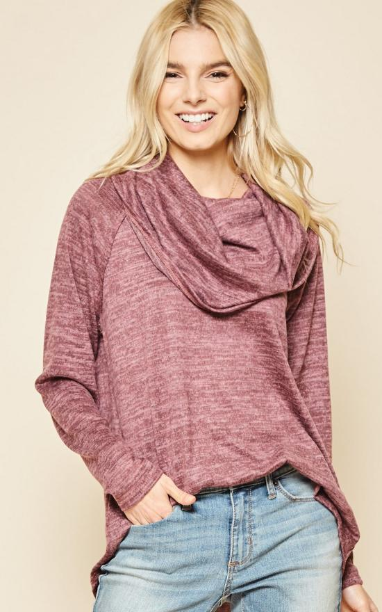 Cowl Neck Knit Sweater-SSW Original-Sandy's Secret Wednesdays Unique Boutique