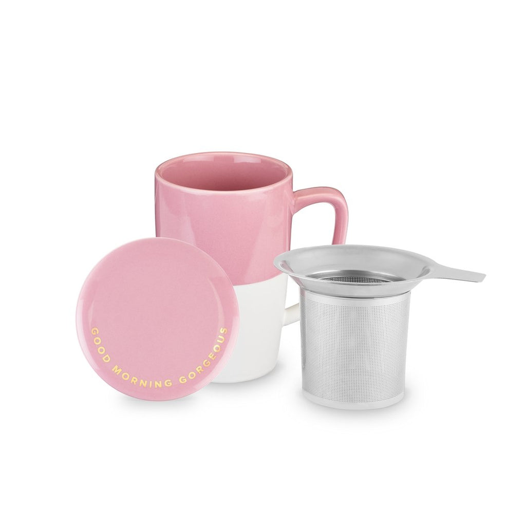 Delia Ceramic Tea Mug & Infuser-Pinky Up-Sandy's Secret Wednesdays Unique Boutique