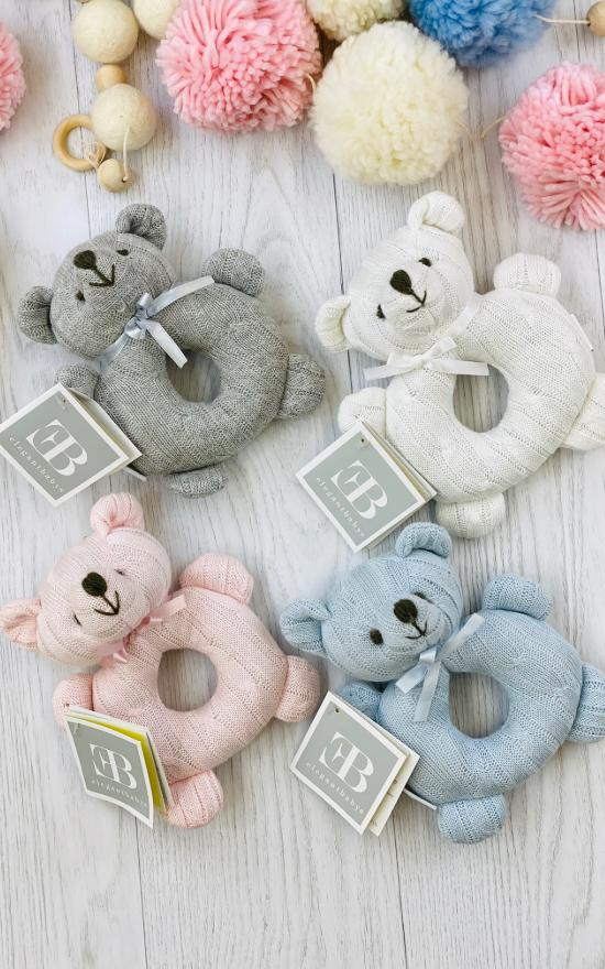 Elegant Baby Bear Knit Rattle-Elegant Baby-Sandy's Secret Wednesdays Unique Boutique