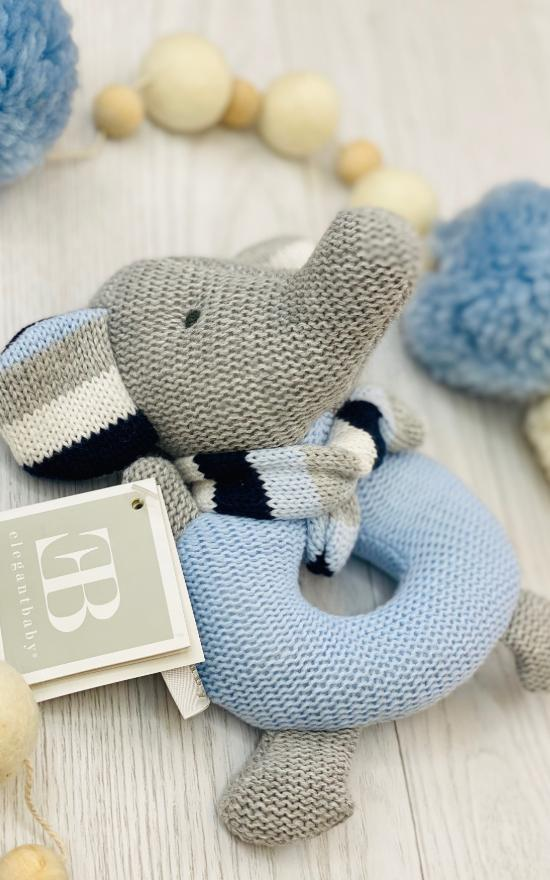 Elegant Baby Knit Rattle-Elegant Baby-Sandy's Secret Wednesdays Unique Boutique