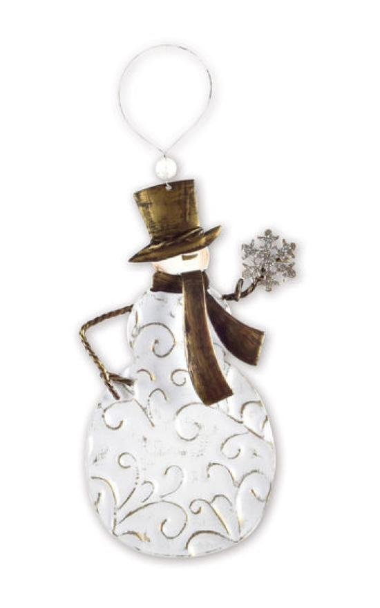 *Embossed Snowman Ornament-Sunset Vista-Sandy's Secret Wednesdays Unique Boutique