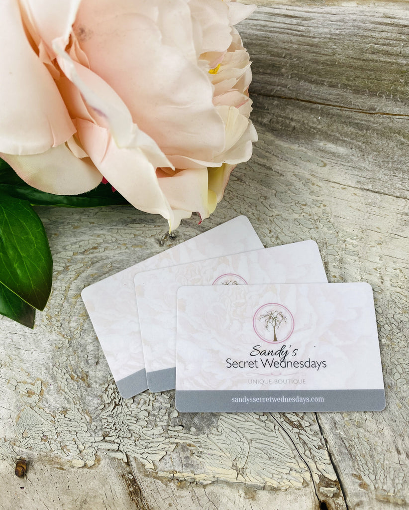 Gift Card-SSW Original-Sandy's Secret Wednesdays Unique Boutique