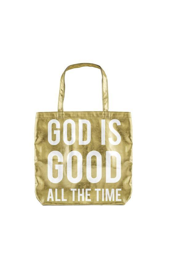 God Is Good Metallic Tote-Faithworks-Sandy's Secret Wednesdays Unique Boutique