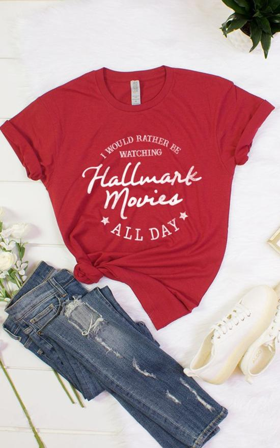 Hallmark Movies Tee-Colorbear-Sandy's Secret Wednesdays Unique Boutique