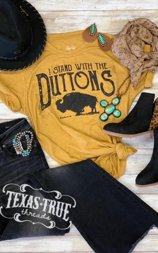 I Stand With The Duttons Tee - Curvy-Texas True Threads-Sandy's Secret Wednesdays Unique Boutique