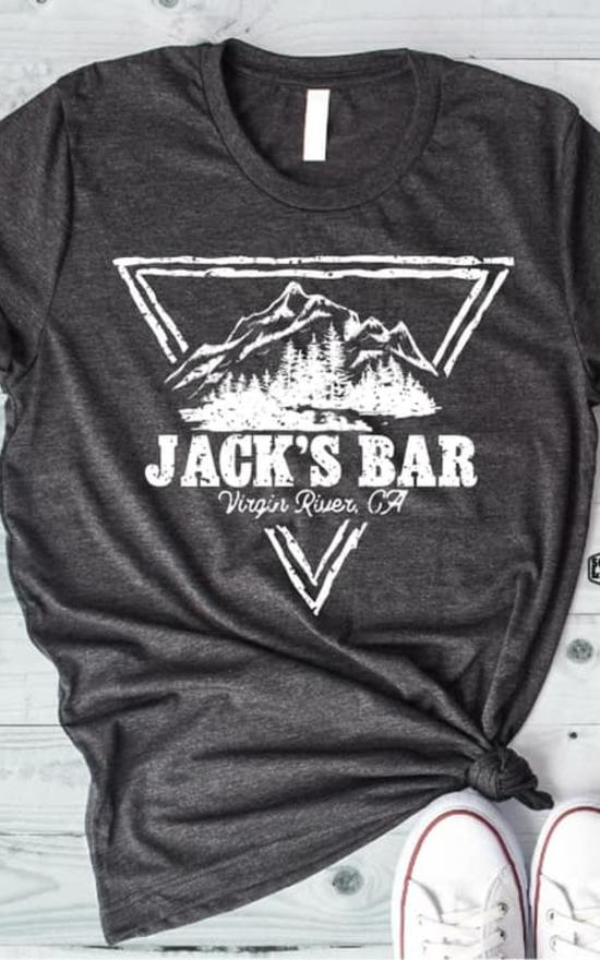 Jack's Bar Tee-Southern Leopard Clothing-Sandy's Secret Wednesdays Unique Boutique