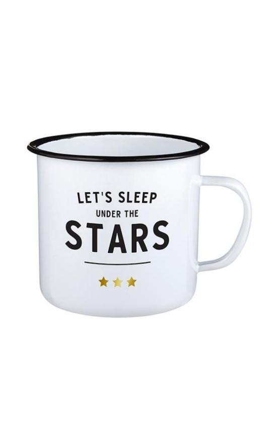 Lets Sleep Under The Stars Enamel Mug-Santa Barbara Design Studio-Sandy's Secret Wednesdays Unique Boutique