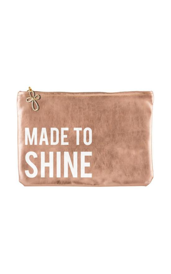 Made To Shine Metallic Pouch-Faithworks-Sandy's Secret Wednesdays Unique Boutique