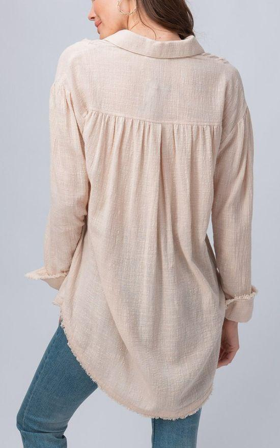 Mia Gauze Tunic-Trend Notes-Sandy's Secret Wednesdays Unique Boutique