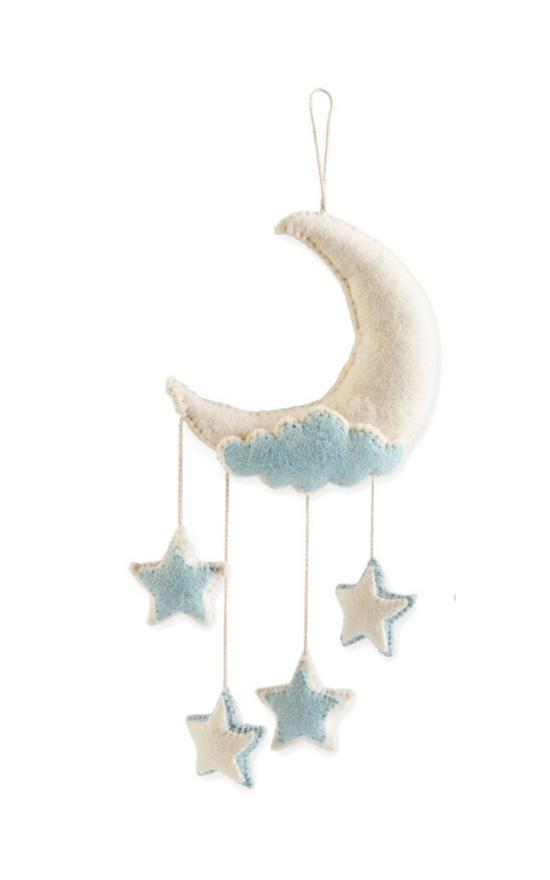 Mud Pie Baby Moon Wall Hanging-Mud Pie-Sandy's Secret Wednesdays Unique Boutique