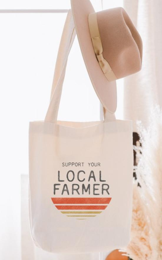 Oat Collective Support Your Local Farmer Tote-Oat Collective-Sandy's Secret Wednesdays Unique Boutique