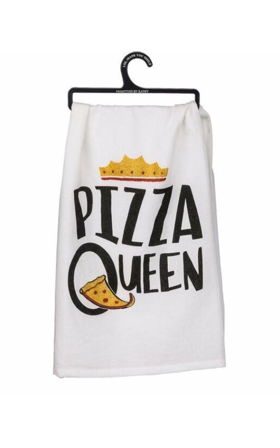 Pizza Queen Dish Towel-Primitives By Kathy-Sandy's Secret Wednesdays Unique Boutique