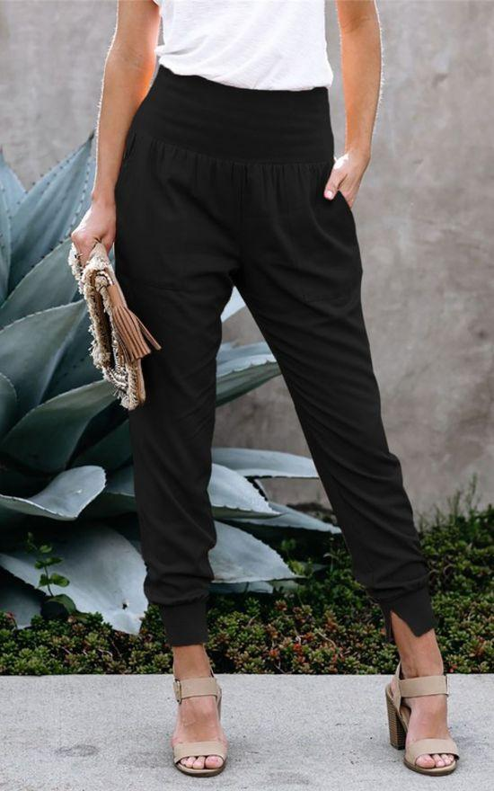 Pocketed Cotton Joggers-SHEWIN-Sandy's Secret Wednesdays Unique Boutique