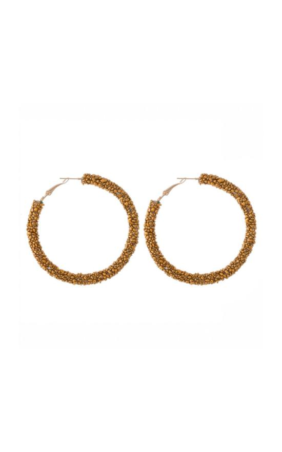 Seed Beaded Hoop Earrings-Judson & Company-Sandy's Secret Wednesdays Unique Boutique