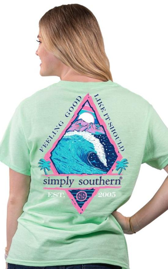 Simply Southern Feelin' Good Tee-Simply Southern-Sandy's Secret Wednesdays Unique Boutique