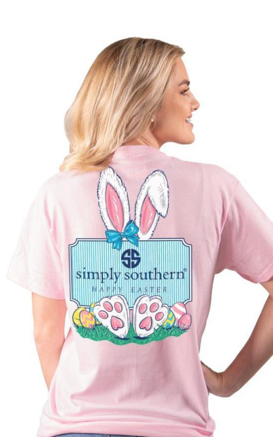 Simply Southern Happy Easter Tee-Simply Southern-Sandy's Secret Wednesdays Unique Boutique