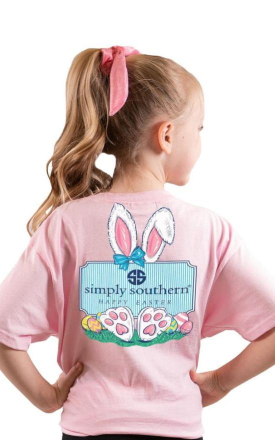 Simply Southern Happy Easter Tee - Youth-Simply Southern-Sandy's Secret Wednesdays Unique Boutique