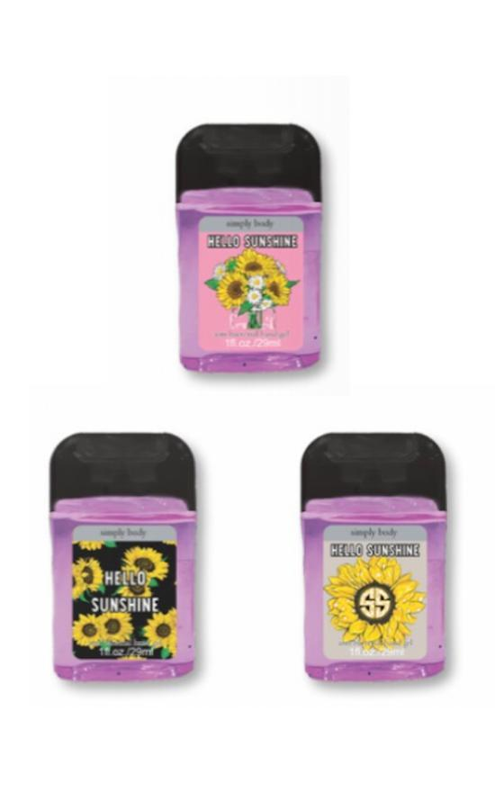 *Simply Southern Hello Sunshine Mini Hand Sanitizer-Simply Southern-Sandy's Secret Wednesdays Unique Boutique