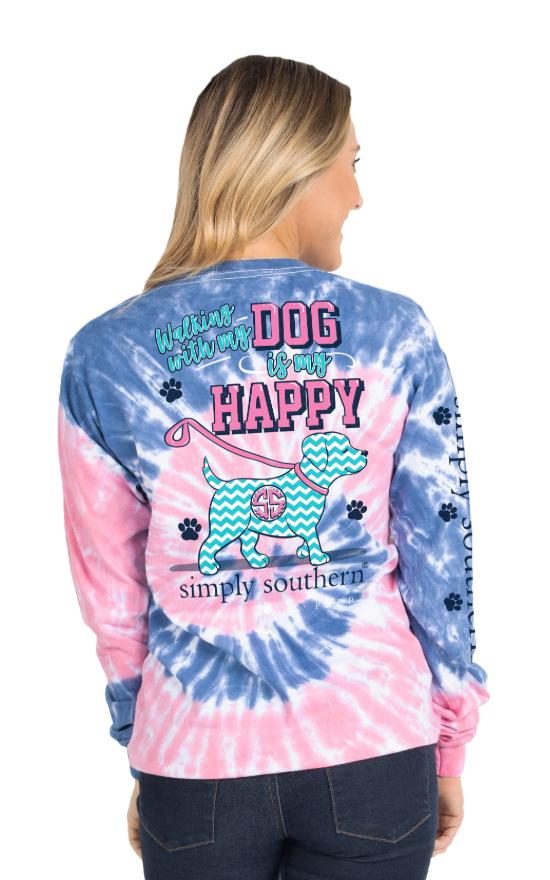 Simply Southern Long Sleeve Walking Tee - Youth-Simply Southern-Sandy's Secret Wednesdays Unique Boutique