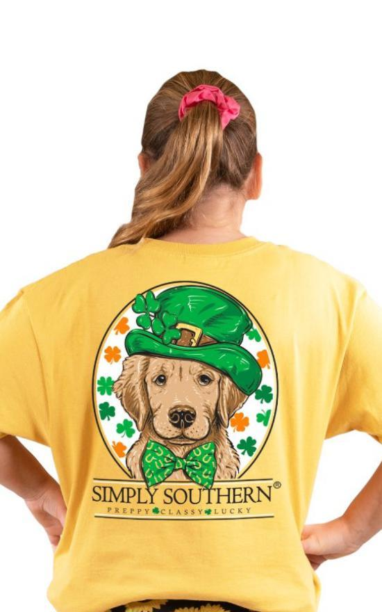 Simply Southern Lucky Dog Tee - Youth-Simply Southern-Sandy's Secret Wednesdays Unique Boutique