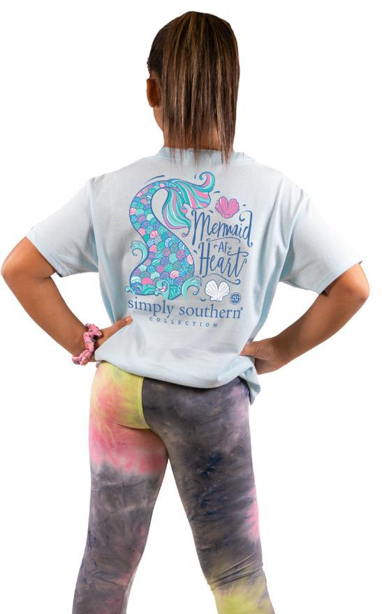 Simply Southern Mermaid At Heart Tee - Youth-Simply Southern-Sandy's Secret Wednesdays Unique Boutique