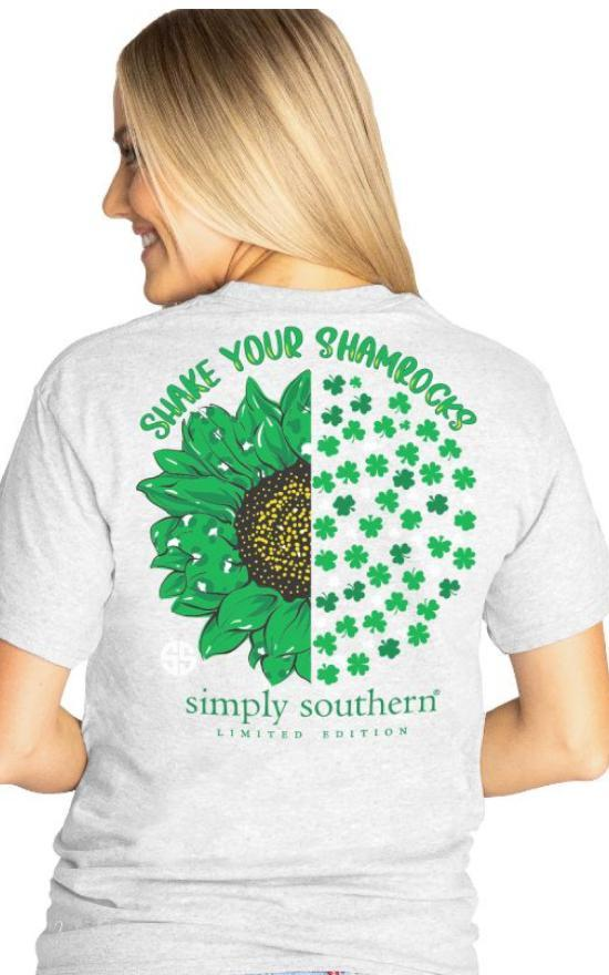 Simply Southern Shake Your Shamrock Tee-Simply Southern-Sandy's Secret Wednesdays Unique Boutique