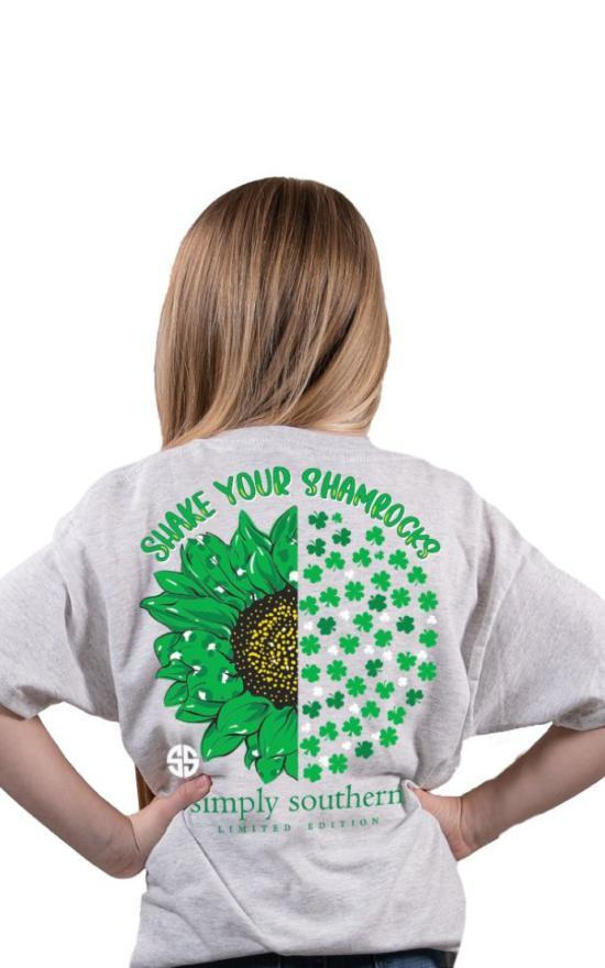 Simply Southern Shake Your Shamrock Tee - Youth-Simply Southern-Sandy's Secret Wednesdays Unique Boutique