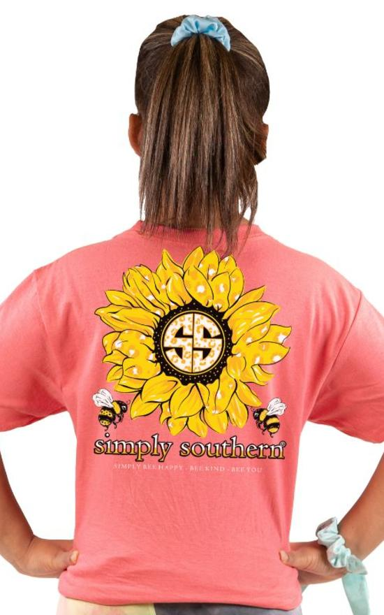 Simply Southern Sunflower Tee - Youth-Simply Southern-Sandy's Secret Wednesdays Unique Boutique