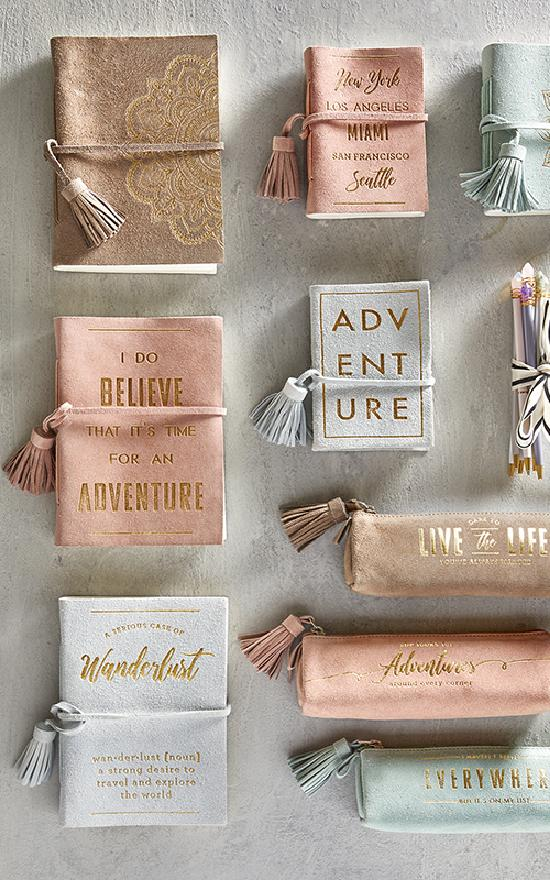 Suede Adventure Notebook-Santa Barbara Design Studio-Sandy's Secret Wednesdays Unique Boutique
