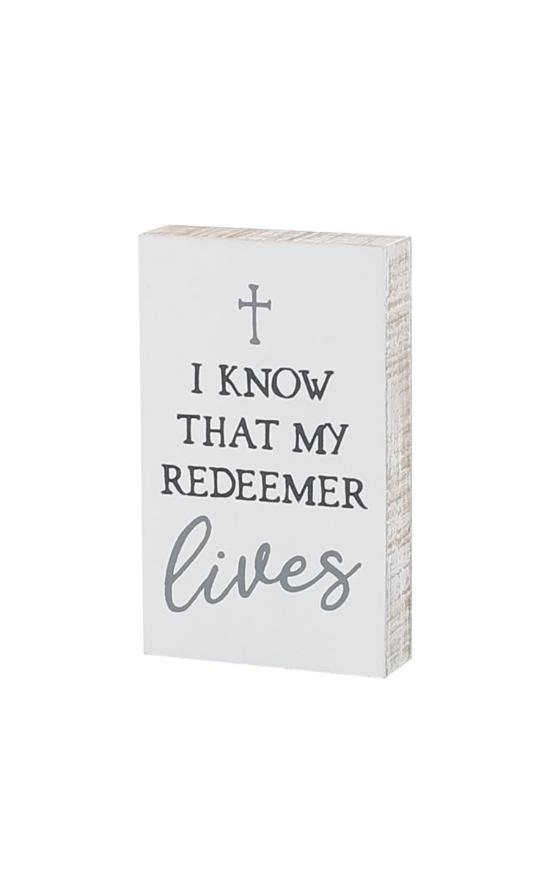 *The Redeemer Lives Block Sign-Collins Painting & Design-Sandy's Secret Wednesdays Unique Boutique